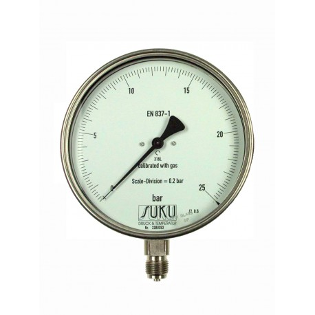 Type 8761 Precision test gauge NS160, connection bottom, all stainless steel