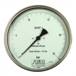 Typ 8781, Feinmessmanometer NG160, Anschluss hinten, komplett Edelstahl