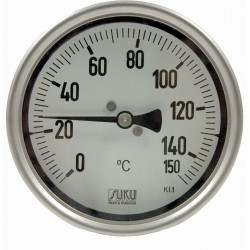 Type 32 Precision-thermometer NS100, all stainless steel, rigid connection back