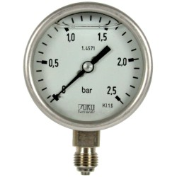 Typ 6505, S3 Sicherheitsmanometer NG63, Chemieausführung, füllfähig