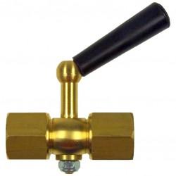 Type 51 Pressure gauge cock female x female, brass