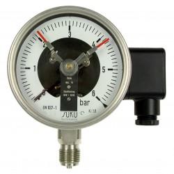 Typ 3612, Kontaktmanometer NG100, Chemieausführung, mit Füllung