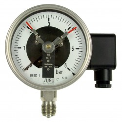 Type 3612 Contact pressure gauge NS100, all stainless steel, with filling