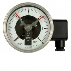 Type 3712 Contact pressure gauge NS100, all stainless steel, connection back