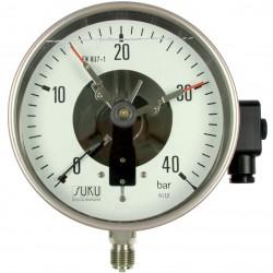 Typ 4012 Kontaktmanometer NG160, Chemieausführung mit Füllung, Anschluss unten