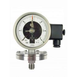 Typ 4312, Kontaktmanometer mit Plattenfeder NG100, Chemieausführung