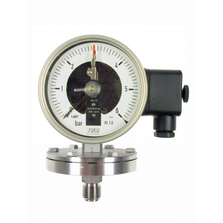 Type 4312 Contact pressure gauge NS100, chemical execution, with diaphragm