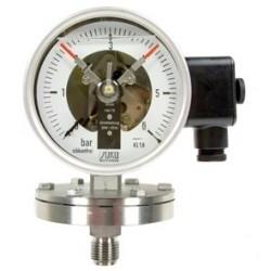 Typ 4412, Kontaktmanometer mit Plattenfeder NG100, Chemieausführung, Ölfüllung