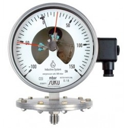 Type 4512, Contact pressure gauge with diaphragm NS160, all stainless steel, connection bottom