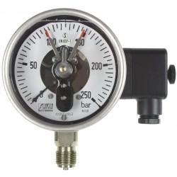 Typ 6551 Rohrfeder-Kontaktmanometer NG100, S3-Sicherheitsausführung, mit Füllung