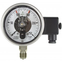 Type 6551 Contact pressure gauge NS160, S3-Safety execution, with filling