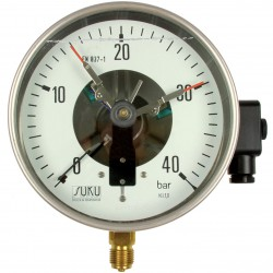 Type 8111 Contact pressure gauge NS160 with oil filling