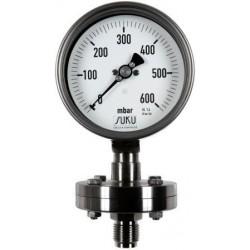 Typ 6314 Plattenfedermanometer NG160 - hoch überdruckbelastbar bis 25 bar