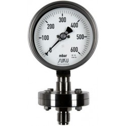 Type 6314 Diaphragm type pressure gauge NS160 - high overload safety up to 25 bar