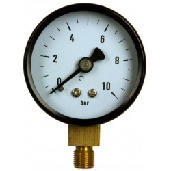 Type 4201, Bourdon tube pressure gauge NS50, connection bottom