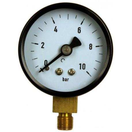 Type 4201, Bourdon tube pressure gauge NS50, connection bottom