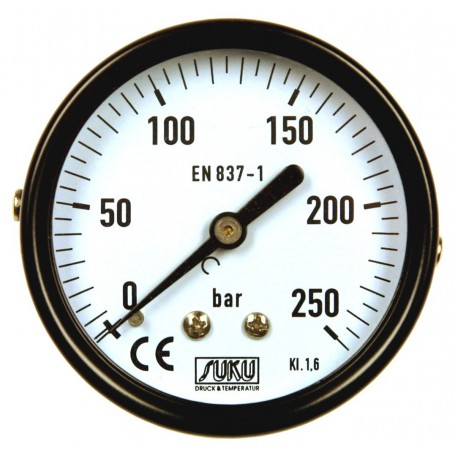 Type 4351, Bourdon tube pressure gauge NS63, connection back