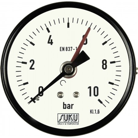 Type 4421, Bourdon tube pressure gauge NS80, connection back