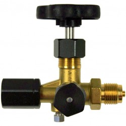 Type 70, Shut-off valve, male x union nut, with test connection, DIN 16271