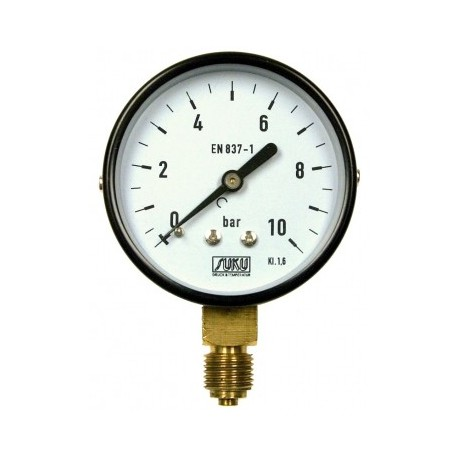 Type 4301, Bourdon tube pressure gauge NS63, connection bottom