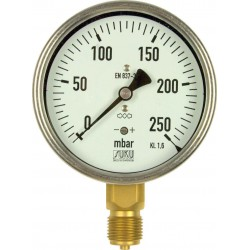Type 5631, Capsule type pressure gauge NS100, connection bottom
