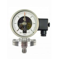 Typ 6511 Kontakt-Plattenfedermanometer NG100, Gehäuse Edelstahl