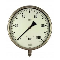 Typ 5351 Rohrfedermanometer NG250, Gehäuse Edelstahl, Anschluss unten