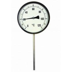 Typ B15, Bimetall-Zeiger-Thermometer, mit Bördelring, Anschluss unten