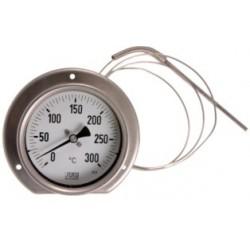 Typ 34, Präzisions-Thermometer NG100, komplett Edelstahl, Anschluss hinten mit Fernleitung