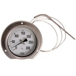Type 34 Precision-thermometer NS100, all stainless steel, connection back with capillary line
