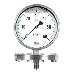 Typ 7861, Plattenfedermanometer NG160, Gehäuse Edelstahl, Glyzerinfüllung