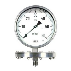Type 6331, Pressure gauge with diaphragm NS160, all stainless steel, glycerine filling