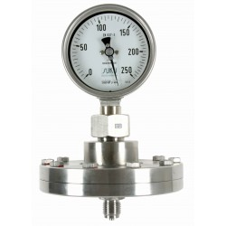 Type 6400, Absolute pressure gauge NS100 with diaphragm, all stainless steel