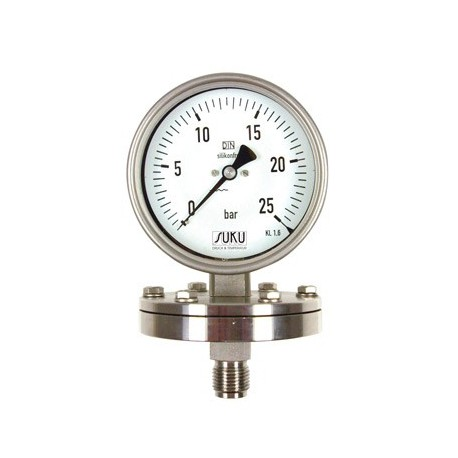 Type 6302, Pressure gauge with diaphragm NS100, all stainless steel