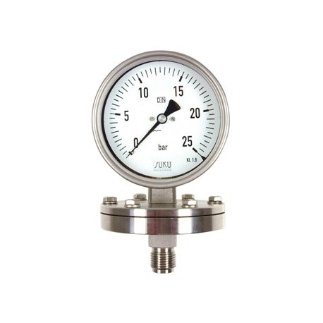 Type 5921 Pressure gauge with diaphragm NS100, case stainless steel
