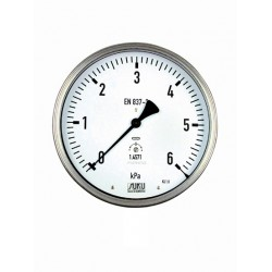 Type 6089 Capsule type pressure gauge NS 160, all stainless steel, connection back