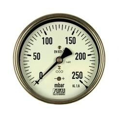 Typ 6087, Kapselfedermanometer NG100, Chemieausführung, Anschluss hinten