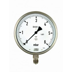 Type 6088, Capsule type pressure gauge NS160, all stainless steel, connection bottom