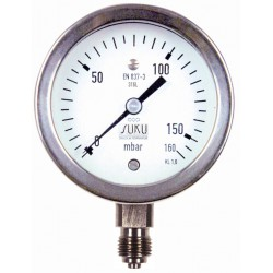 Type 6080, Capsule type pressure gauge NS63, all stainless steel, connection bottom