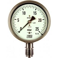Typ 6086, Kapselfedermanometer NG100, Chemieausführung, Anschluss unten