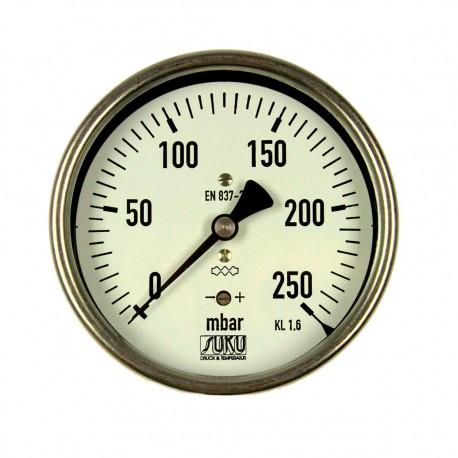 Typ 5641, Kapselfedermanometer NG100, Anschluss hinten
