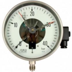Typ 3912, Kontaktmanometer NG160, Chemieausführung, Anschluss unten