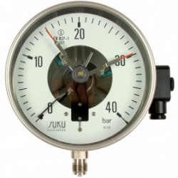 Type 3912, Contact pressure gauge NS160, chemical execution, connection bottom