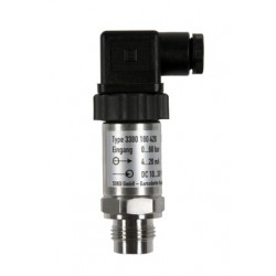 Type 3385 HEIM-Pressure sensor with front flush diaphragm for gauge and absolute pressure, 0-10 V DC