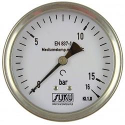 Typ 5341, Rohrfedermanometer NG100, Anschluss hinten