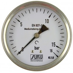 Type 5341, Bourdon tube pressure gauge NS100, connection back