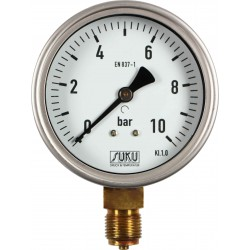 Type 5331, Bourdon tube pressure gauge NS100, connection bottom