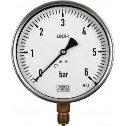 Typ 5301, Rohrfedermanometer NG160, Anschluss unten