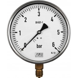 Type 5301, Bourdon tube pressure gauge NS160, connection bottom