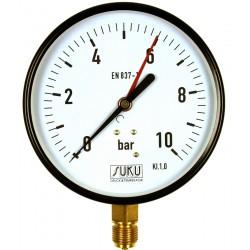 Typ 4951, Rohrfedermanometer NG160, Anschluss unten